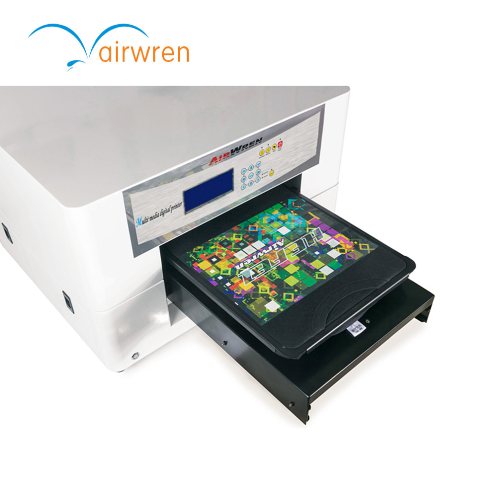 Indoor t shirt printing machine fabric printer a3 support for Computerized t shirt printing machine