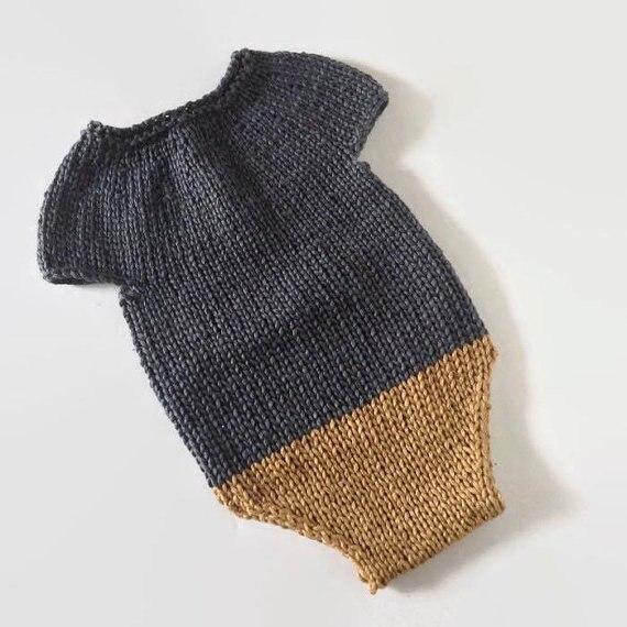Baby knit romper  newborn romper sitter romper, knit newborn photo prop