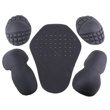 1 Set Removable EVA Guard Motorcycle Rider Shoulder & Elbow Back Protector Pad for Motorbike Protection