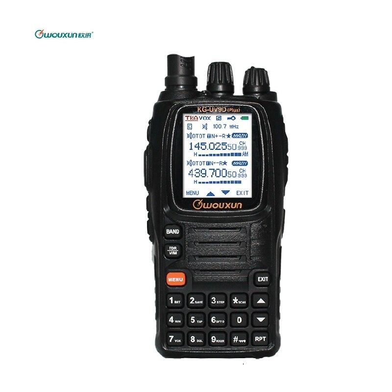 Wouxun KG-UV9D PLUS Dual Band Transmission Talkie Walkie Croix Bande Répéteur Multi-Bande Multi-fonctionnelle DTMF Jambon Deux Raido façon