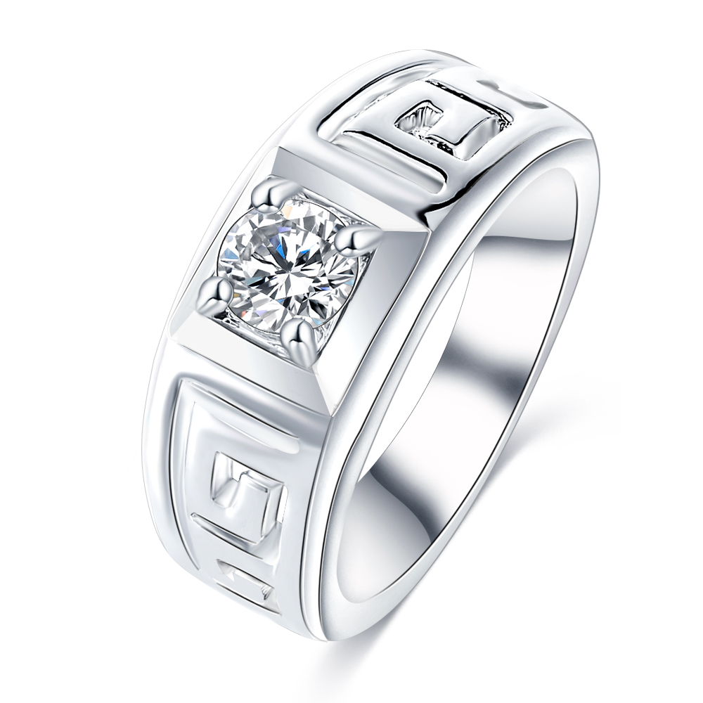 freeshipping online shopping india hot selling rings for men white gold plated letter g hollow cz diamond ring anelli cri0407 b - Where To Sell Wedding Ring