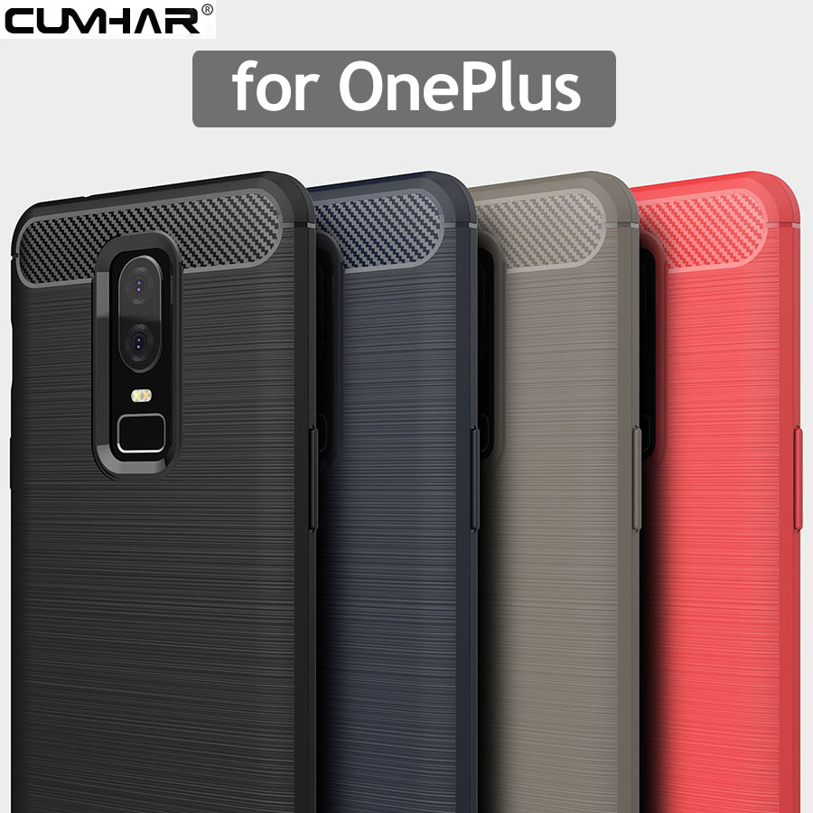 Cumhar For OnePlus 6T Case Soft TPU Back For One Plus Six