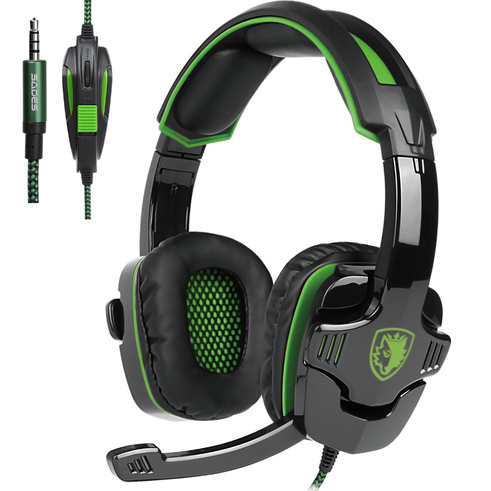 Sades SA-930 Casque PS4 Gaming headsets head set wired earphone Headphones with microphone for pc computer mobail phonesSades SA-930 Casque PS4 Gaming headsets head set wired earphone Headphones with microphone for pc computer mobail phones