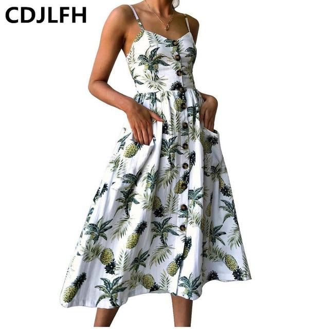 c1f1501d0d1 Boho Style Long Dress Women Spaghetti Strap Beach Summer Dresses Floral  Print Vintage Chiffon White Maxi Dress Vestidos De Festa