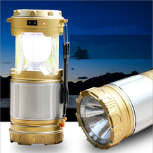 2016 New Retractable Outdoor Tent USB Solar Camping Lamp LED Lantern Light For Hiking Emergencies Outdoor Lighting Folding Lamps