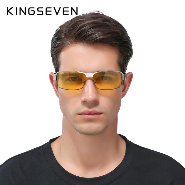 KINGSEVEN Night Vision Glasses Brand Design Polarized Sunglasses Women Men Driving Anti-Glare Goggles