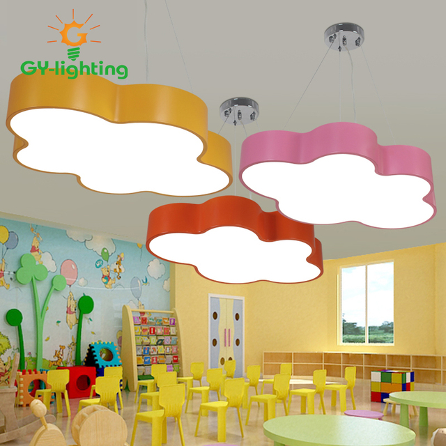 bunte kinder schlafzimmer pendelleuchten led moderne einfache wolke form lampen f r kinderzimmer. Black Bedroom Furniture Sets. Home Design Ideas