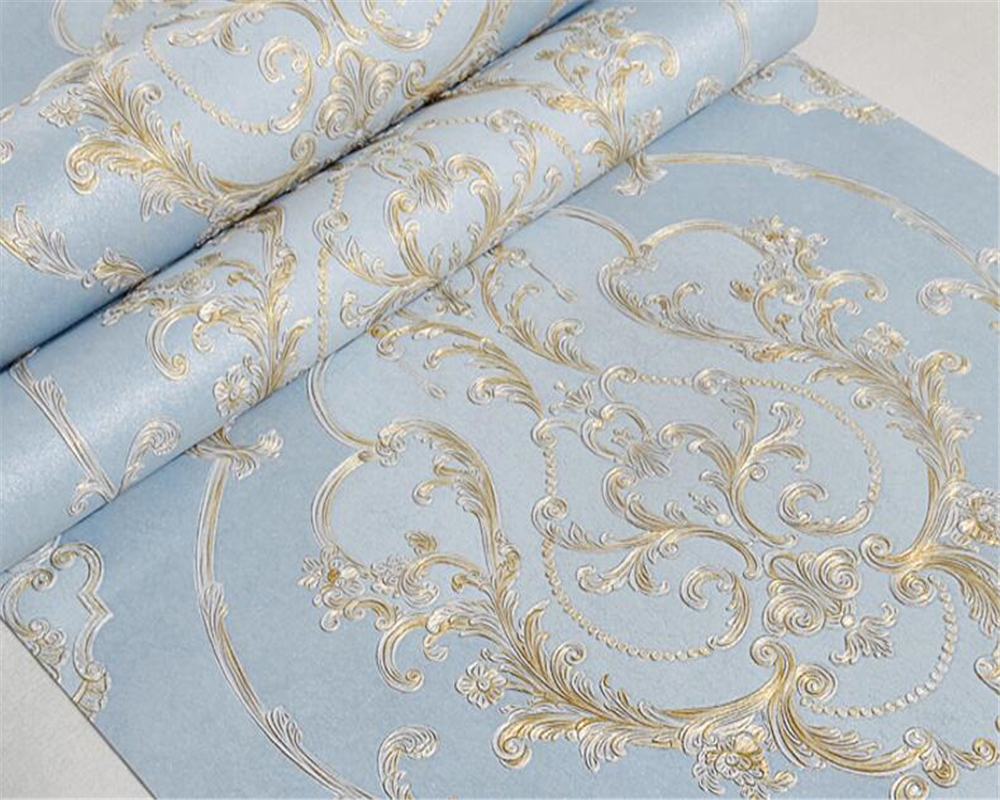 Beibehang European style fine embossed wallpaper living room bedroom Light pink / light blue / light pink 3D wallpaper roll diy gift transparent silica gel stamp acrylic pad diy scrapbooking color process essential tools coloring helper 10x10cm