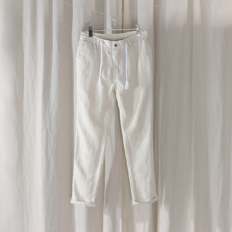 Brasil Stil Lange Hosen Männer Leinen Casual Stretch Hosen Mens Solide Mode Hosen Männlichen Flachs Atmungsaktive Hose Männer Pantalons Gesundheit Effektiv StäRken