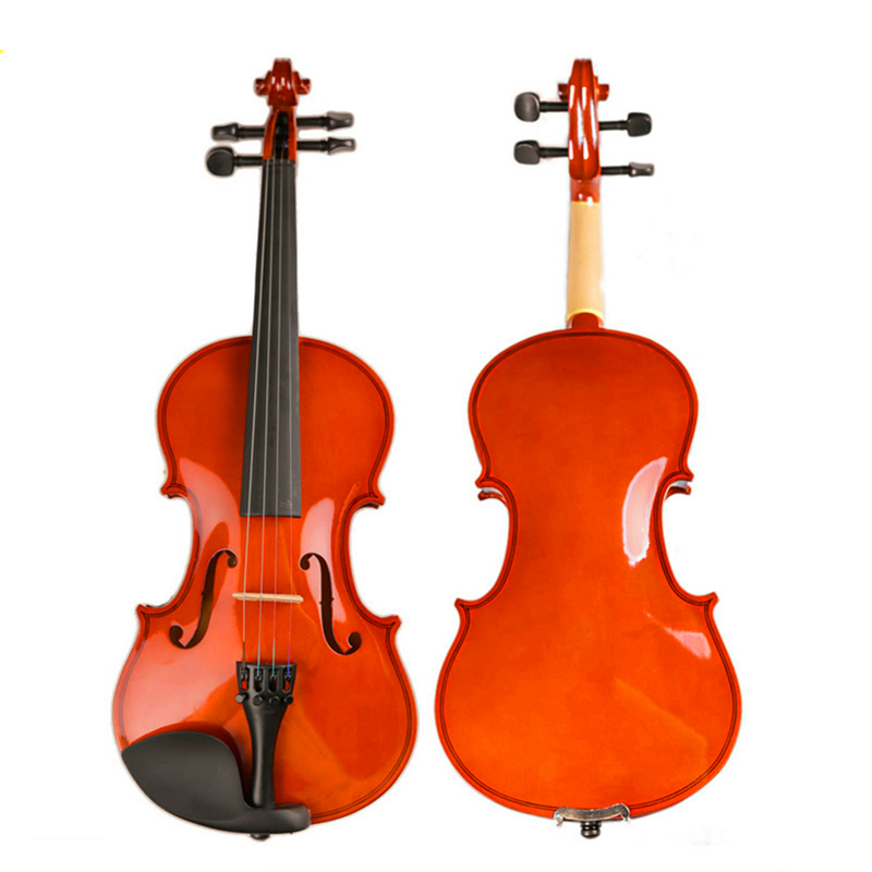 Solid Wood Fingerboard Violin Handcraft Gloss Surface Violino Music Instrument+Case+Bow +Rosin+Mute For Beginner or Students handmade brand new white great streamline model 4 4 electric violin violino solid wood string instrument rosin case bow included
