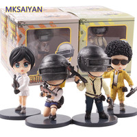 Playerunknown's Battlegrounds PUBG Anime PVC Toys Cute Action Figure 4pcs/set Doll Model Collectible Baby Boys Decoration Gift