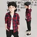 Baby Boys Shirts Blue Pink Red Boy Shirt Long Sleeve School Shirts for Cute Boys Children's Solid Handsome Shirt