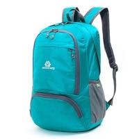 Mochila plegable portátil para exteriores  ultraligera mochila de viaje  mochila de nailon para camping senderismo  bolsas de piel  bolsa plegable impermeable