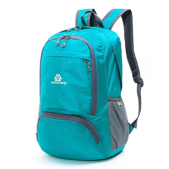 dbb5763733 outdoor portable folding backpack Ultralight travel backpack nylon camping hiking  bag Skin bags Waterproof folding bag