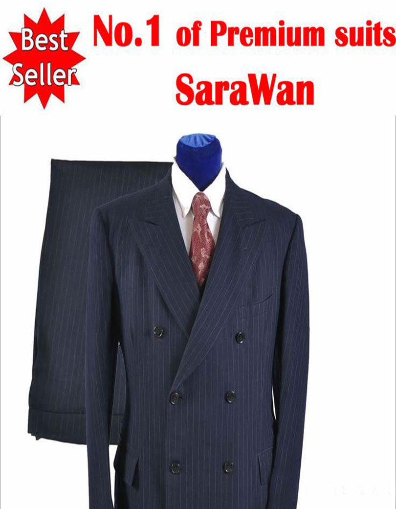 Popular Double Breasted Pinstripe Suit-Buy Cheap Double Breasted