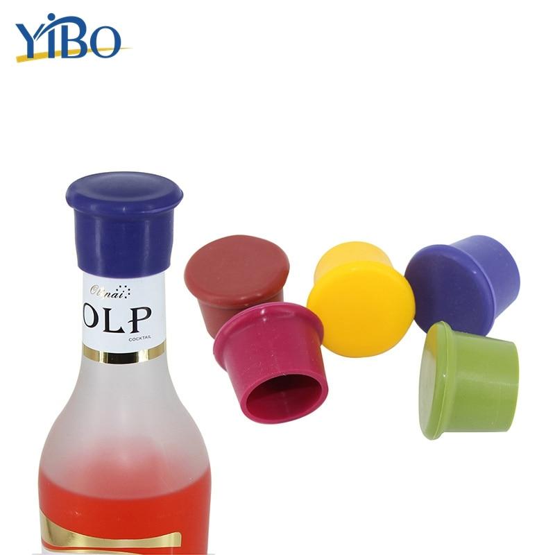 YIBO 2Pcs/set Silicone Bottle Cap Leak Free Wine Stopper Beer Bottle Sealers Cork Plug Bar Tool