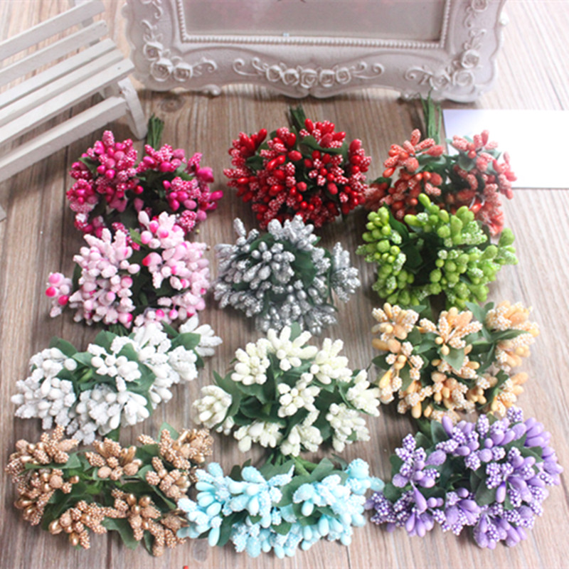 Cheap 12pcs artificial bud stamen berry bacca flower for for Artificial flower for wedding decoration