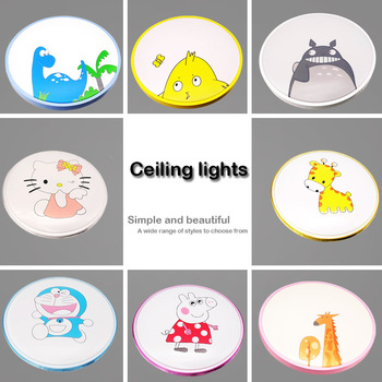 Modern LED Ceiling Lights Lighting 36W Fixture Lamp Living Room Bedroom  Personality color cartoon light +Remote Control