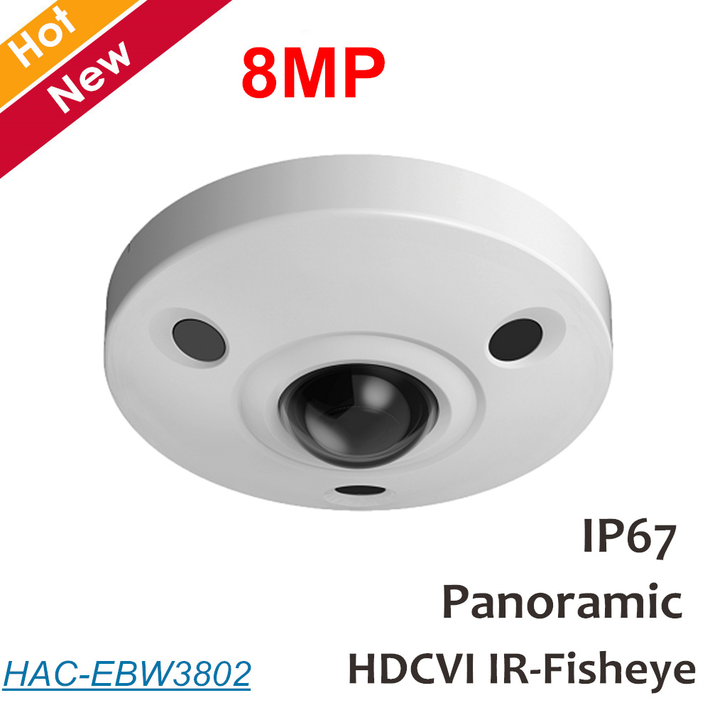 DH 8mp Panoramique fisheye Caméra HDCVI Caméra micro Intégré Étanche IP67 Coaxial caméra IP Caméra Max.15m IR distance