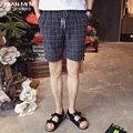 T china cheap wholesale hot sale 2016 new Summer men fashion shorts male casual knee-length plaid beach short
