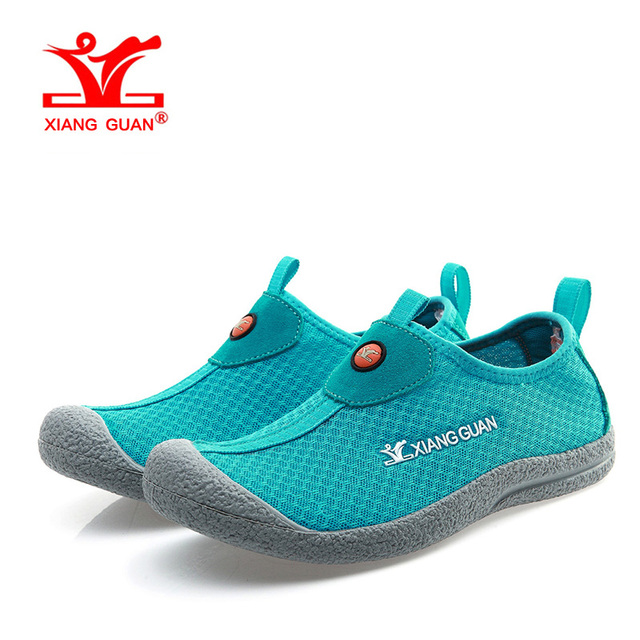 7fce0f1aeda8 XIANG GUAN Woman Beach Aqua Shoes For Women Breathable Trainers Summer  Water Sports Boating Wading Shoe