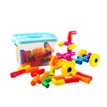 Colorful Education Water Pipe Exquisite Building Block Toys Children DIY Assembly Tunnel Model for Kids