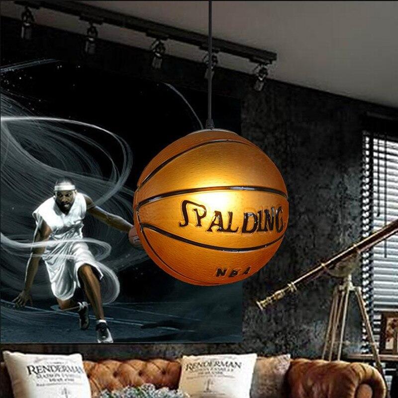 Nordique rétro mode thème Restaurant lustre Bar enfants chambre étude café magasin de sport basket-ball lampe livraison gratuite - 3