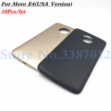 10 pz/lotto Nuovo Portello Della Batteria Della Copertura Posteriore Custodia Per Motorola moto E4 (USA Version) Con Logo