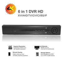 6in1 AHD DVR recorder P2P supports 1080P / 4MP / 5MP / 8MP CCTV camera Hi3521A D 4 / 8 channel digital hard disk recorder