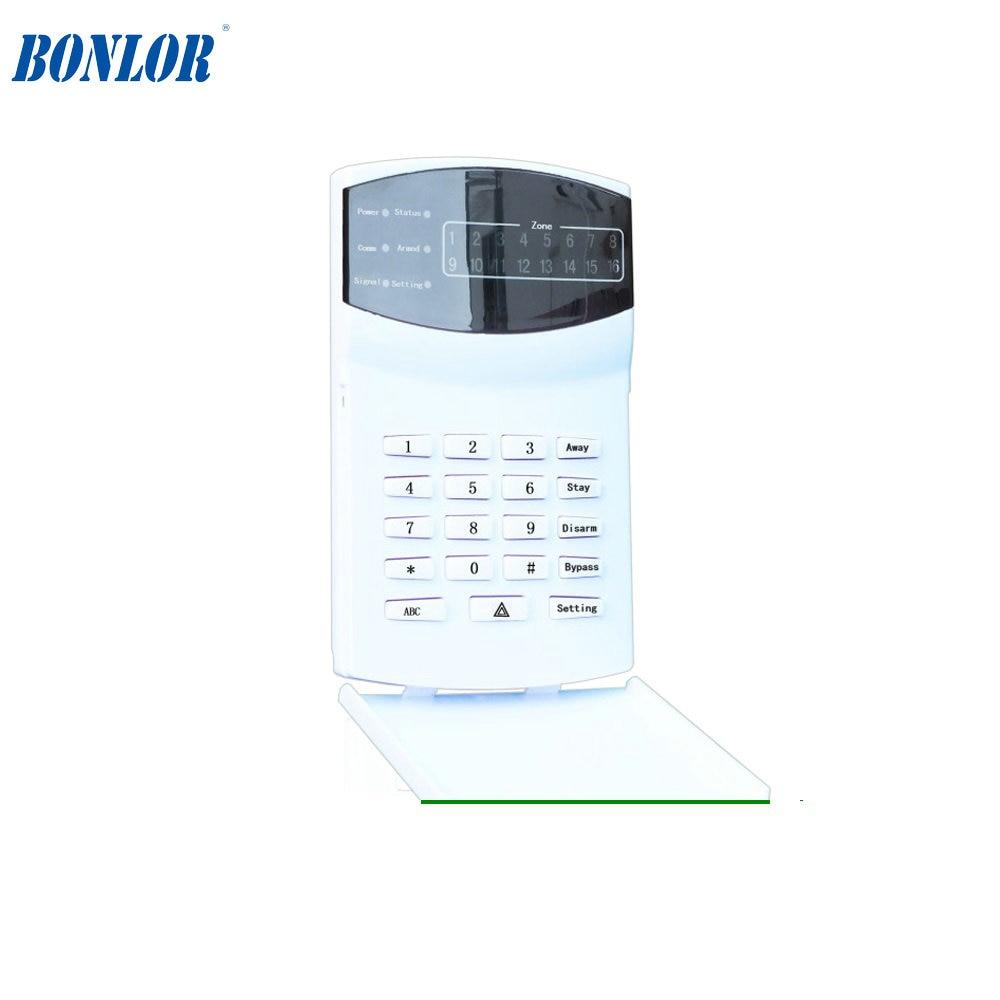 (1pcs) Free shipping  PSTN GSM SMS Alarm system LED keypad   Alarm Control System Keypad  BR-016-G