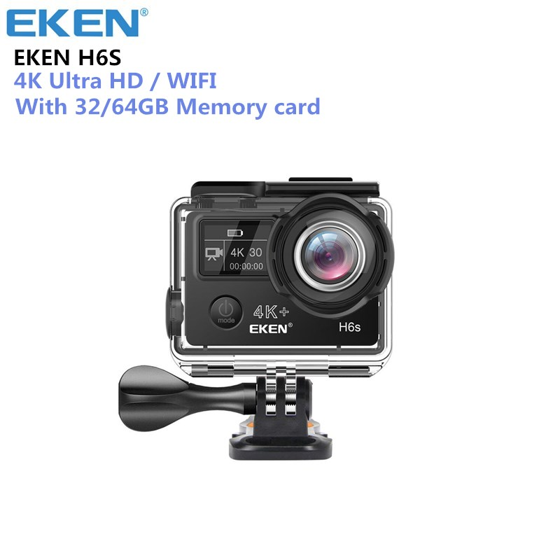 EKEN H6S Action Camera Ultra HD 4K WiFi EIS Electronic Image Stabilization Go Waterproof 1080P Pro Sport DV Camera eken h6s a12 ultra 4k 30fps wifi action camera 30m waterproof 1080p go eis image stabilization ambarella 14mp pro sport cam