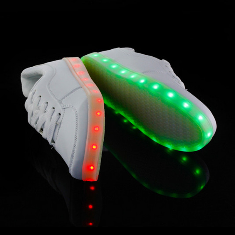 e74ca842a4a Remote control USB Glowing Sneakers Kids Light Up Shoes 2015 New Fashion  Chaussure Lumineuse Enfant Children Shoes With Light-in First Walkers from  Mother ...