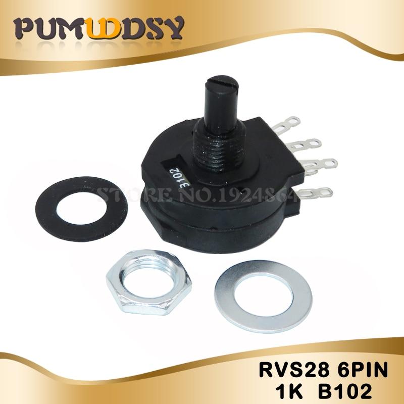 5 PCS Electric Welding Machine Potentiometer RVS28P-B102 2W 1K Welding Machine Parts RVS28 B102 6PIN Original