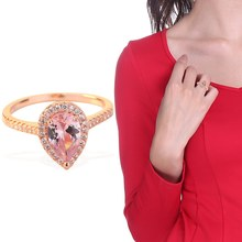 Engagement Wedding Rings Rose Gold Color Cubic Zirconia Ring Birthstone Promise Rings For Women(China)