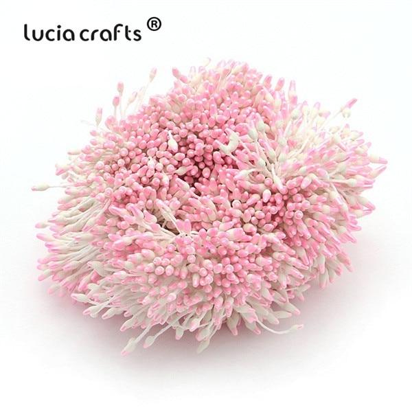 288 шт 60 мм разноцветные варианты наконечник пестик тычинка цветок тычинка украшения торта двойная головка тычинки D0501 - Цвет: color 11