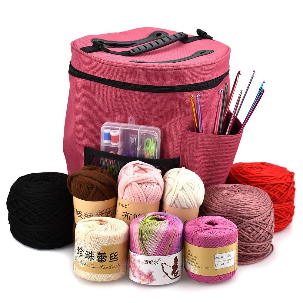 Fedele Trucco Dell'organizzatore Di Immagazzinaggio Del Sacchetto Del Panno Di Oxford Portatile Leggero Filato Filo Crochet Dell'organizzatore Di Immagazzinaggio Tote