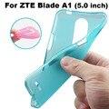 ZTE Blade A1 Крышки Случая 4 Цветов Матовая ТПУ Мягкая задняя Крышка Телефона Чехол Для ZTE Blade A1 Задняя Крышка случае (5.5 дюймов)