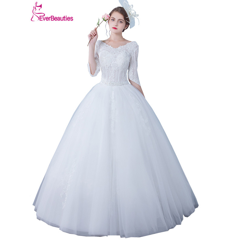 Ball Gown Wedding Dresses Lace Top High Quality Wedding