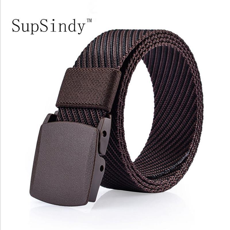 SupSindy hommes toile ceinture boucle en plastique unisexe nylon militaire Armée  ceinture tactique ceintures pour Hommes 73f530e2643