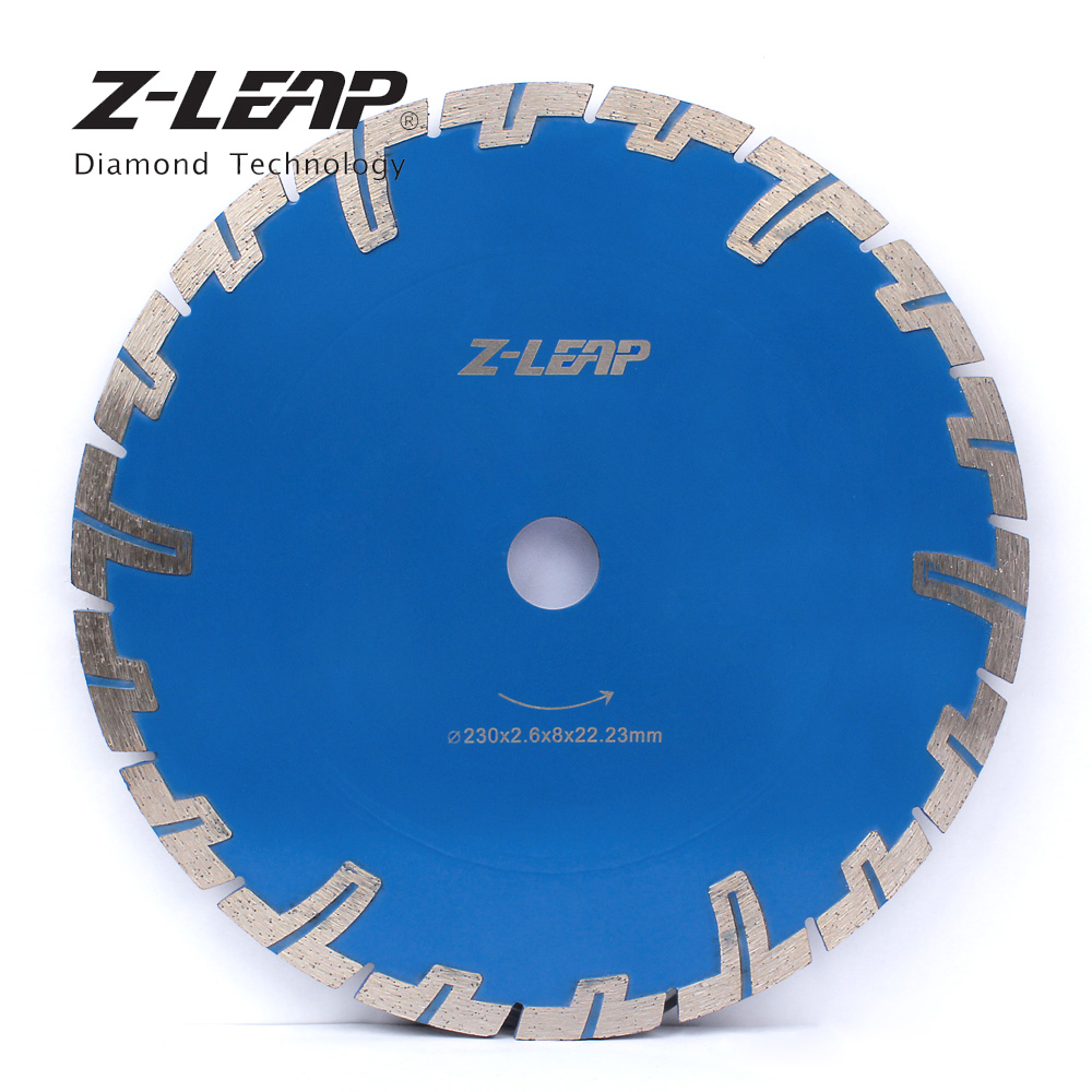 Z-LEAP 9inch 230mm Diamond Saw Blade Protective Teeth For Cutting Granite Sandstone Concrete Circular Saw Diamond Cutting Disc berrylion diamond saw blade circular saw 114mm cutting disc wet diamond disc for marble concrete stone cutting tools