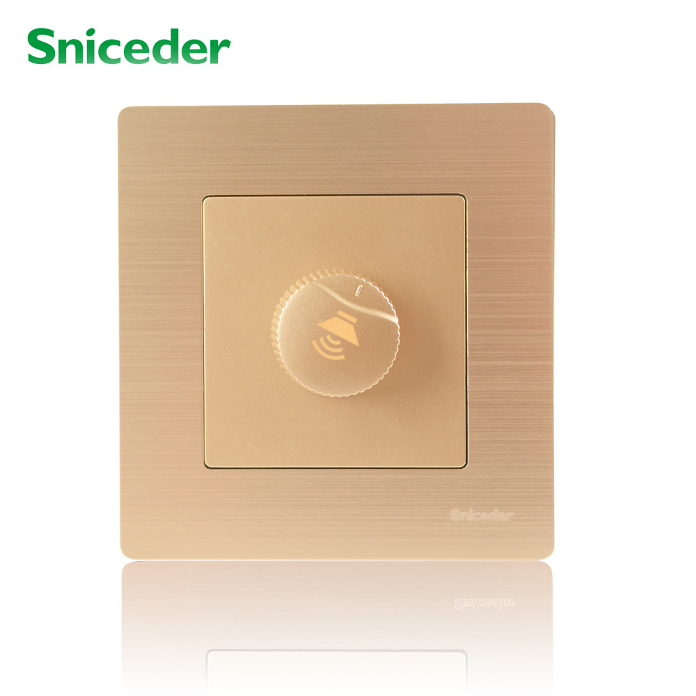 Scinder wall switch and socket type 86 champagne gold wire resistive mixer switch speaker volume controller scinder switched socket package 15 steel frame two or three five hole electrical outlet wall switch panel switch
