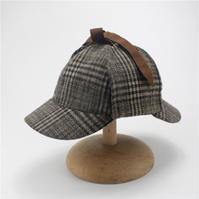 e20c057e Berets Caps For Men Winter Woman Cosplay Cap Detective Sherlock Holmes  Deerstalker Hat Gray Caps(
