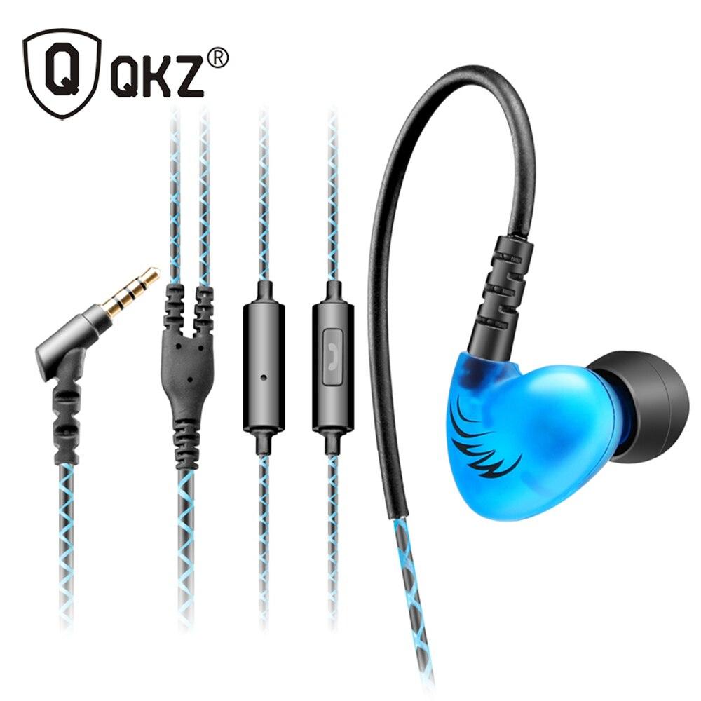 QKZ C6 Dei Bassi Delle Cuffie Sport Gancio Dell'orecchio Sport Auricolare in-ear Auricolari In Esecuzione Con Microfono Per Lettore MP3 Per I Telefoni Intelligenti