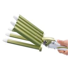 New Women Best Gift Hair Styler&Curling Tong Ceramic 5-Barrel Waving Wand Hair Curler Roller Free Shipping HS11 16 Z