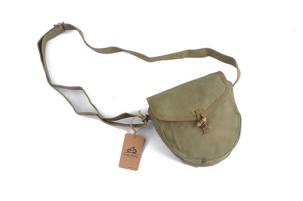 MILITARY ORIGINAL SURPLUS VIETNAM WAR PERIOD CHINESE DRUM MAG ARMY AK AMMO POUCH(China)