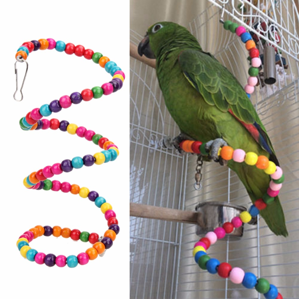 Small Toy Parrots : Cm parrots toys bird swing exercise rainbow hamster