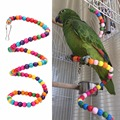 100CM Parrots Toys Rainbow Swing Exercise Toy for Hamster Parrot Parakeet Wooden Bird Ladder Stairs Funny Pet Toys