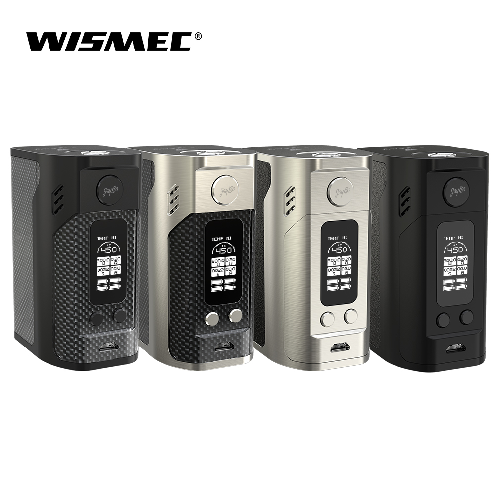 D'origine Wismec Reuleaux RX300 TC Mod Box 300 W sortie maximale utilise quatre 18650 cellules VW/TC-Ni/TC-Ti/TC-SS/TCR Mode e-cigs vape