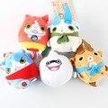 5pcs/set New  8cm 40g Japan Yokai Watch Super Red Cat Koma San Soft Plush Doll Toys