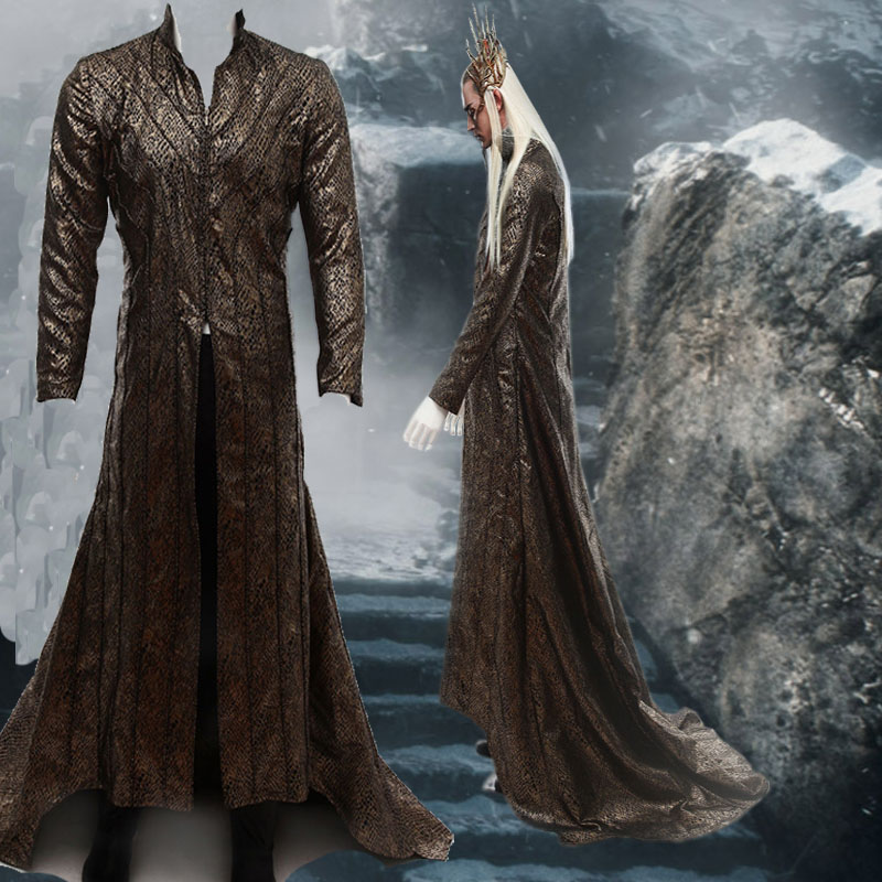 HOT Movie COS The Hobbit Lord of the Rings Lee Pace Thranduil Cosplay Costumes Any Size Halloween